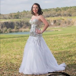 Beautiful Beaded Prom Dress